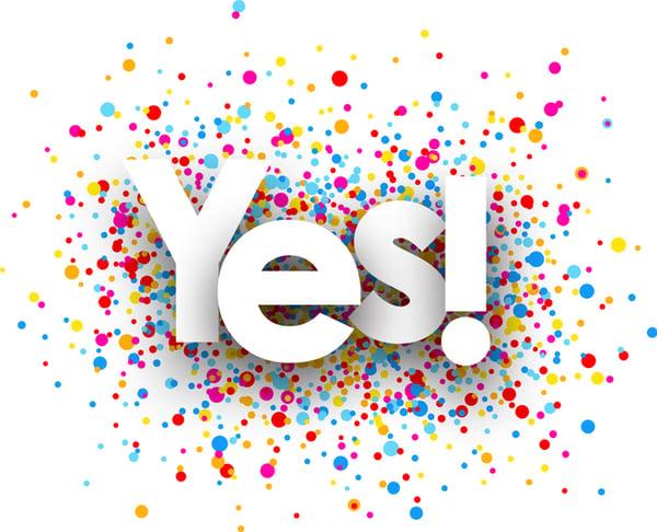 Yes! Confetti_iStock-918973772
